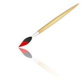 Brush. Paint brush illustration on isolated background Stock Image