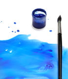 Brush with abstract paint Royalty Free Stock Photos