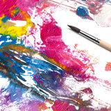 Brush and abstract paint Royalty Free Stock Image