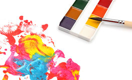 Brush and abstract paint Stock Photo
