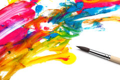 Brush and abstract paint Stock Image