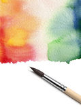 Brush and abstract paint Royalty Free Stock Photos