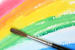 Brush on abstract paint Stock Image