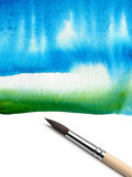 Brush and abstract painted background Stock Images