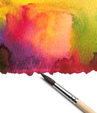 Brush and abstract watercolor. Paint royalty free stock image