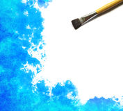 Brush and Abstract watercolor. Hand painted background stock images
