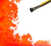 Brush and Abstract watercolor Royalty Free Stock Photo