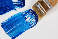 Brush with Acryl Color Stock Image