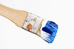 Brush with Acryl Color Stock Images