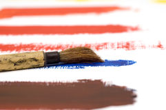 Brush on Acrylic Paint Royalty Free Stock Images