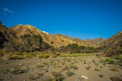 Dry Riverbed in Southern California Royalty Free Stock Images