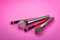 The brush for applying cosmetic make-up Stock Photo