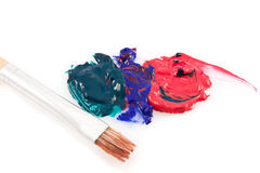 Brush art mix color school paint Stock Image