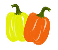 Brush Art Of Peppers Royalty Free Stock Photo