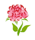 Brush art of Rose Stock Image