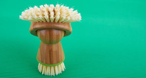 Brush Bath. Lies on green background Stock Image