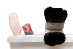 Brush with black bristles Royalty Free Stock Photography