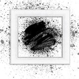 Brush 01 black frame. Smudge and smear a brush in a frame, vector background, illustration clip-art royalty free illustration