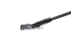 Brush of black mascara Stock Images