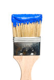 Paint Brush with Blue Paint Royalty Free Stock Photography