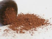 Brush with blush powder royalty free stock photos