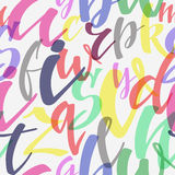 Brush calligraphy style seamless pattern Royalty Free Stock Images