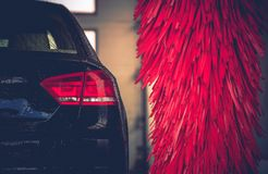 Brush Car Wash Car Cleaning Royalty Free Stock Images