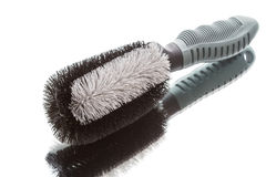 Brush for cleaning the car wheels Royalty Free Stock Photo