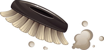Brush cleaning dust. Vector illustration over white background. EPS 10 Royalty Free Stock Photography
