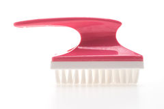 Brush for cleaning foot Stock Photo