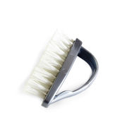 Brush for cleaning utensils isolated Stock Photo