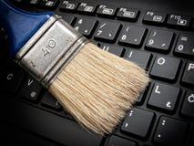 Brushing data Stock Photos