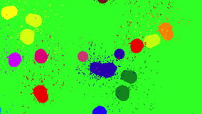 Brush color blot. Green screen background. 4k animation. The Brush color blot. Green screen background. 4k animation stock illustration