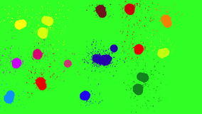 Brush color blot. Green screen background. 4k animation. The Brush color blot. Green screen background. 4k animation stock video