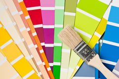 Brush and color charts Royalty Free Stock Photo