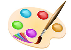 Brush color Stock Photography