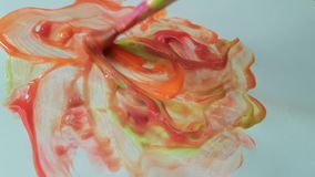 Brush Color Paint Draw creativity concept colorful stroke stock video