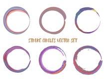 Brush Circles Vector Set stock illustration