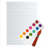 Brush and colors Royalty Free Stock Photography