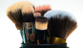 Brush cosmetics Royalty Free Stock Image