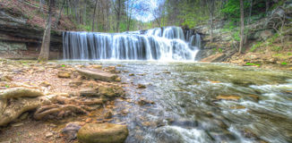 Brush Creek Falls located in West Virginia royalty free stock photography