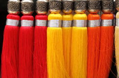 Brush for curtains. Multicoloured decorative brush for curtains Stock Images