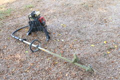Brush Cutter. On the ground Royalty Free Stock Photos