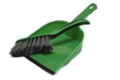 Brush and dustpan Royalty Free Stock Images