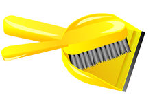 Brush and dustpan Royalty Free Stock Photo