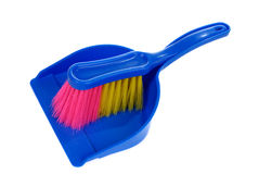 Brush and dustpan isolated on white Royalty Free Stock Image
