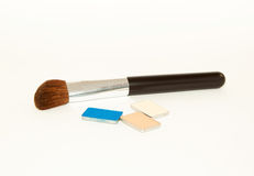 Brush and eye shadows Stock Image