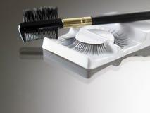 Brush and eyelash Royalty Free Stock Photography