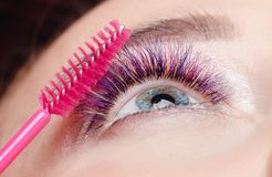 Brush for eyelashes. royalty free stock photos