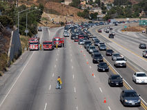 Brush Fire Traffic Jam on 118 Fwy Royalty Free Stock Photos